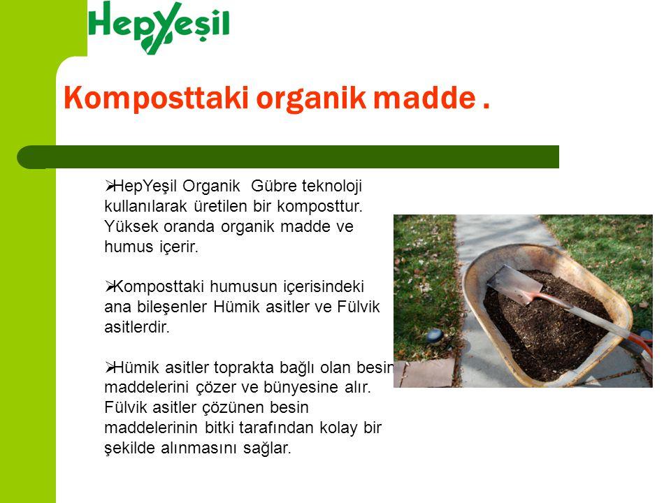 Komposttaki organik madde .