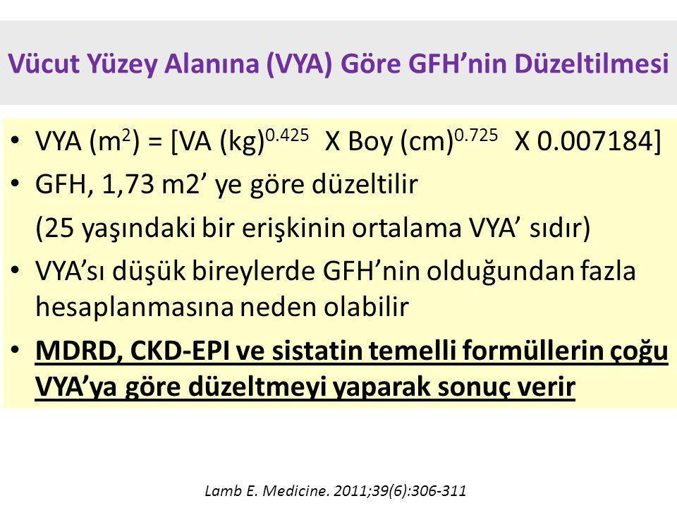 Vücut Yüzey Alanına (VYA) Göre GFH'nin Düzeltilmesi