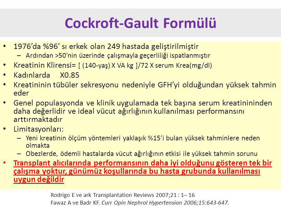 Cockroft-Gault Formülü