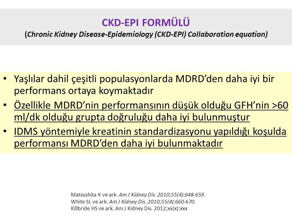 CKD-EPI FORMÜLÜ (Chronic Kidney Disease-Epidemiology (CKD-EPI) Collaboration equation)