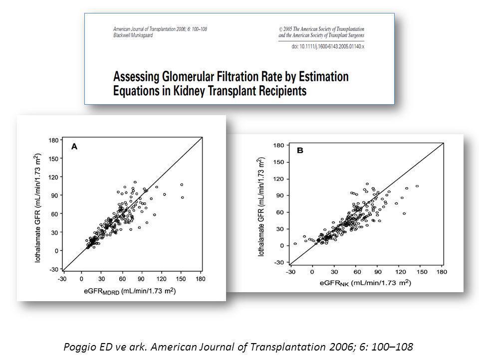 Poggio ED ve ark. American Journal of Transplantation 2006; 6: 100–108
