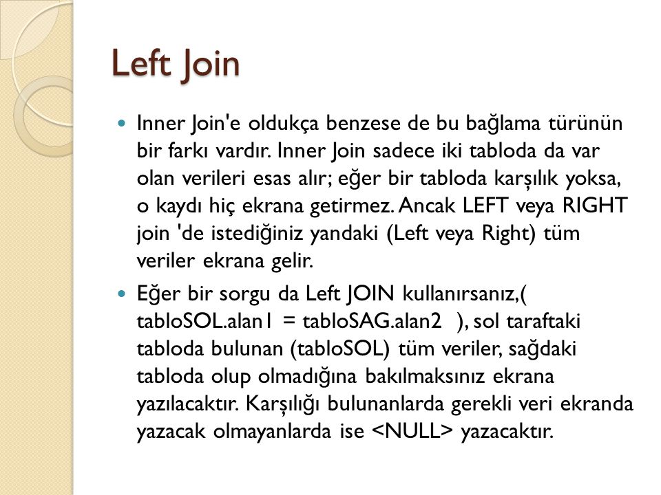 Left Join