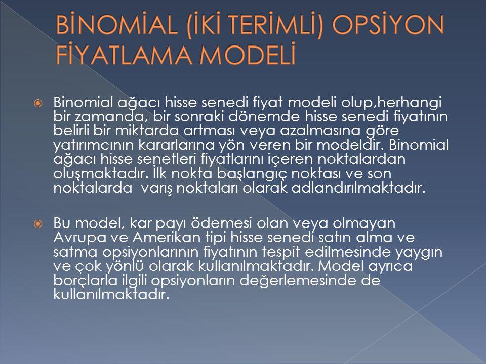 BİNOMİAL (İKİ TERİMLİ) OPSİYON FİYATLAMA MODELİ