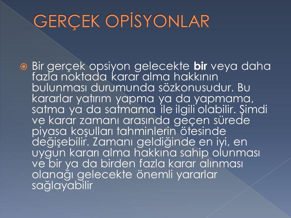 GERÇEK OPİSYONLAR