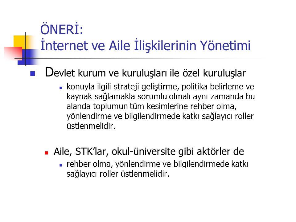 ÖNERİ: İnternet ve Aile İlişkilerinin Yönetimi