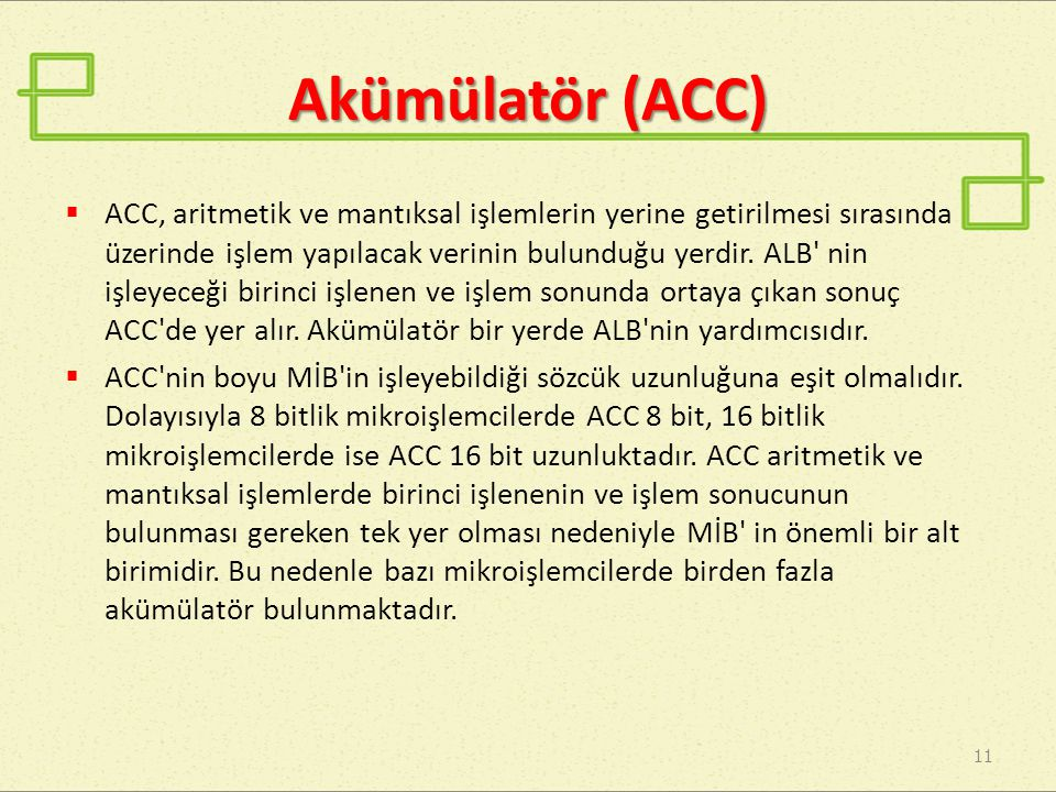 Akümülatör (ACC)