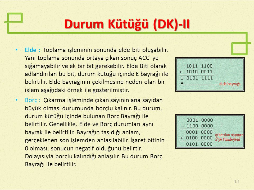 Durum Kütüğü (DK)-II