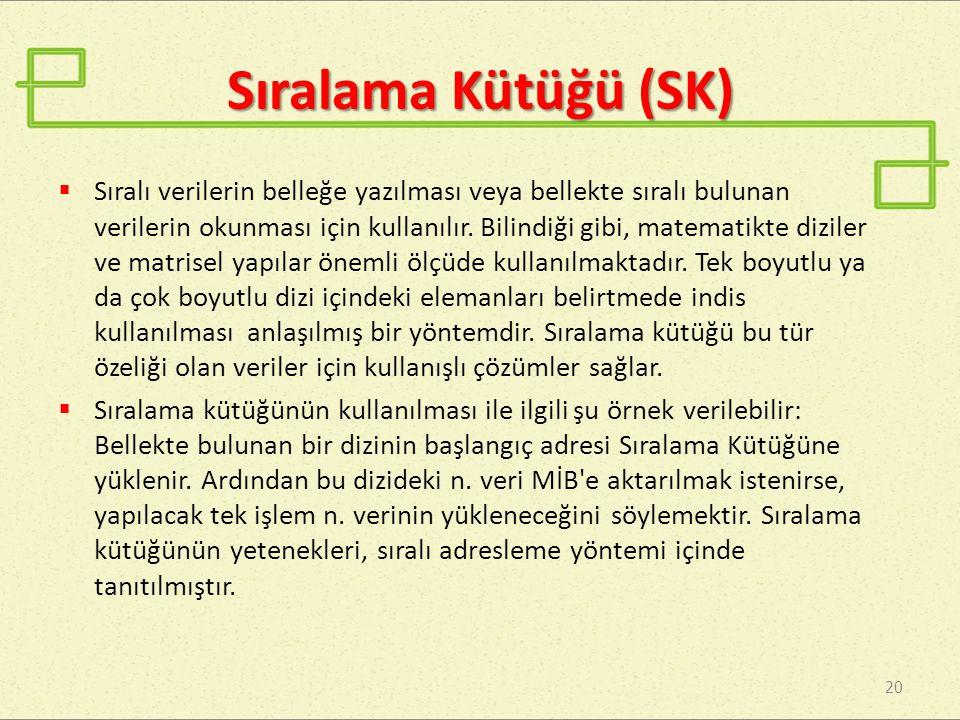 Sıralama Kütüğü (SK)