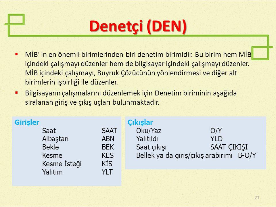 Denetçi (DEN)