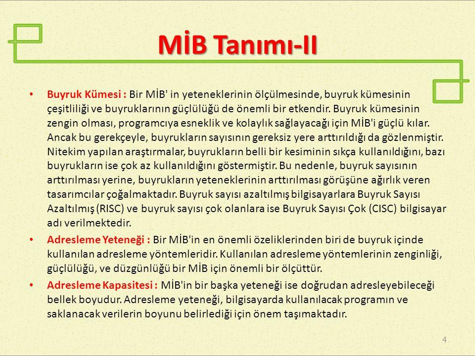 MİB Tanımı-II