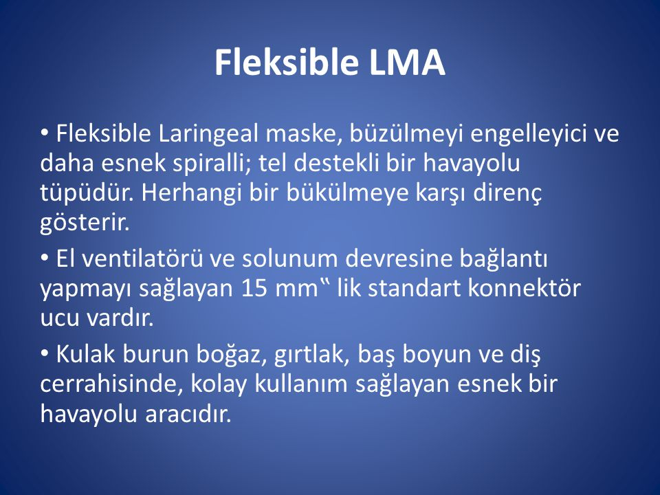 Fleksible LMA