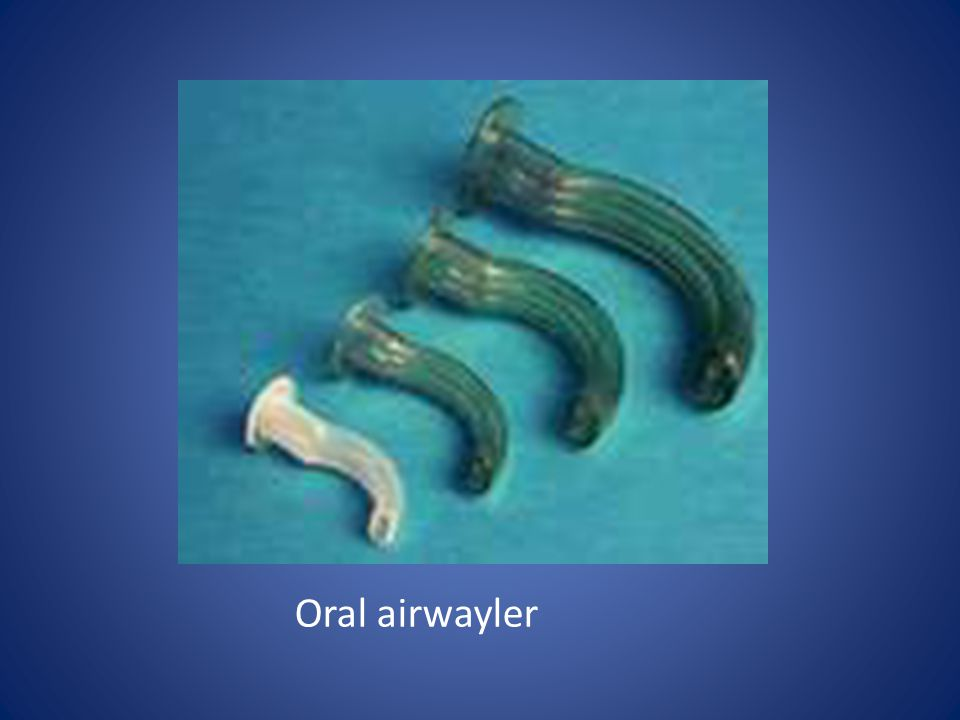 Oral airwayler