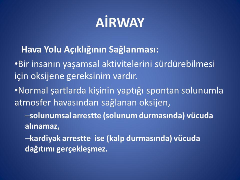 AİRWAY Hava Yolu Açıklığının Sağlanması: