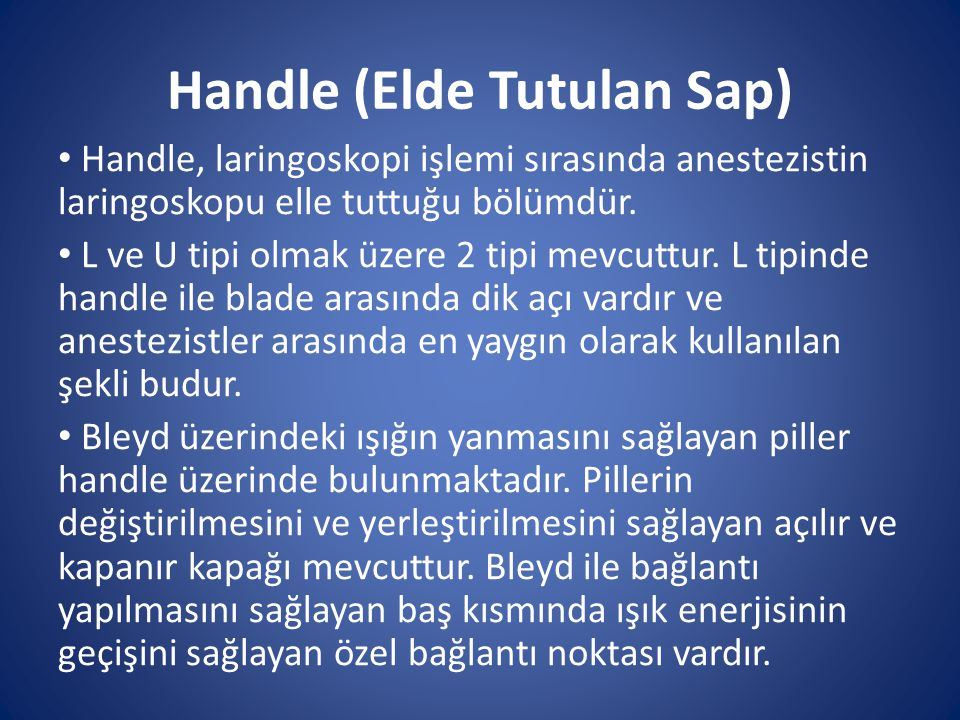 Handle (Elde Tutulan Sap)