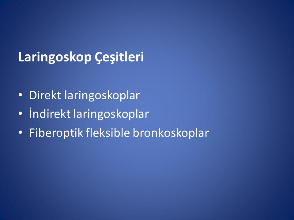 Laringoskop Çeşitleri