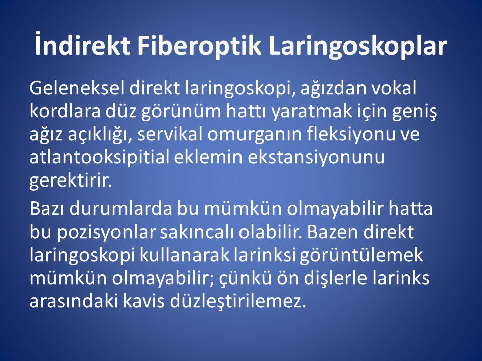 İndirekt Fiberoptik Laringoskoplar