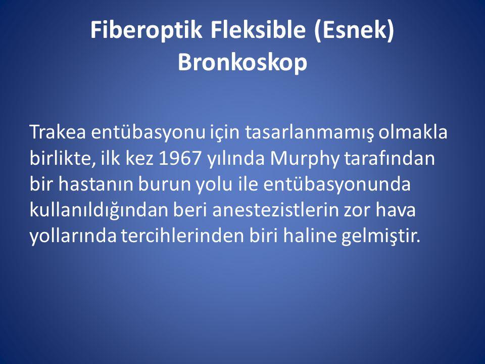Fiberoptik Fleksible (Esnek) Bronkoskop