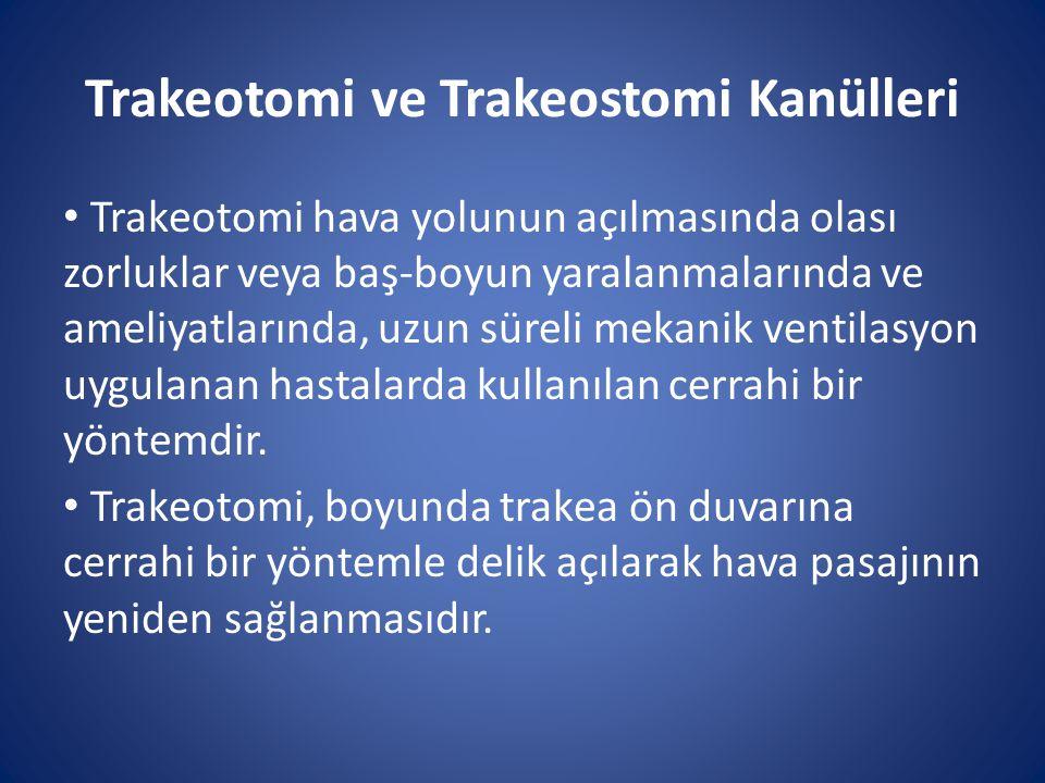Trakeotomi ve Trakeostomi Kanülleri