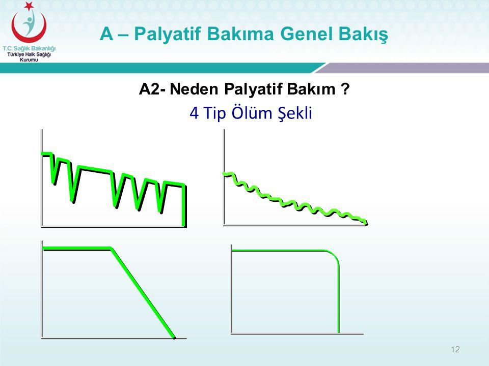 A – Palyatif Bakıma Genel Bakış A2- Neden Palyatif Bakım