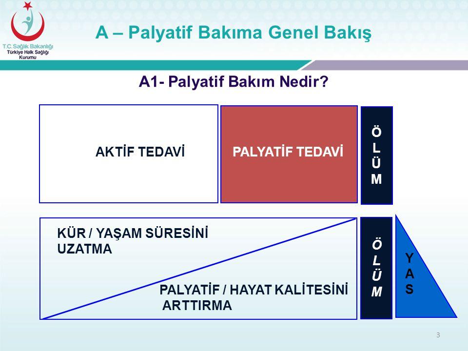A – Palyatif Bakıma Genel Bakış A1- Palyatif Bakım Nedir