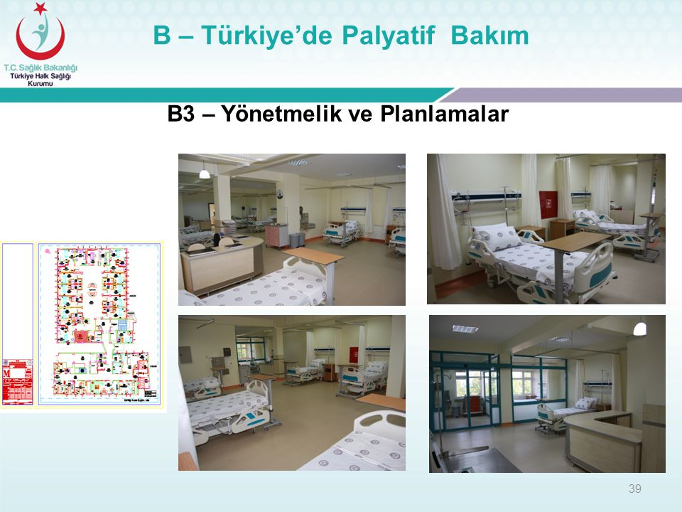 B – Türkiye'de Palyatif Bakım B3 – Yönetmelik ve Planlamalar