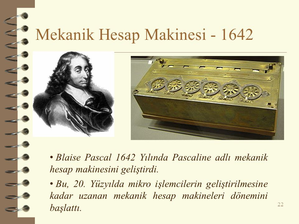 Mekanik Hesap Makinesi - 1642