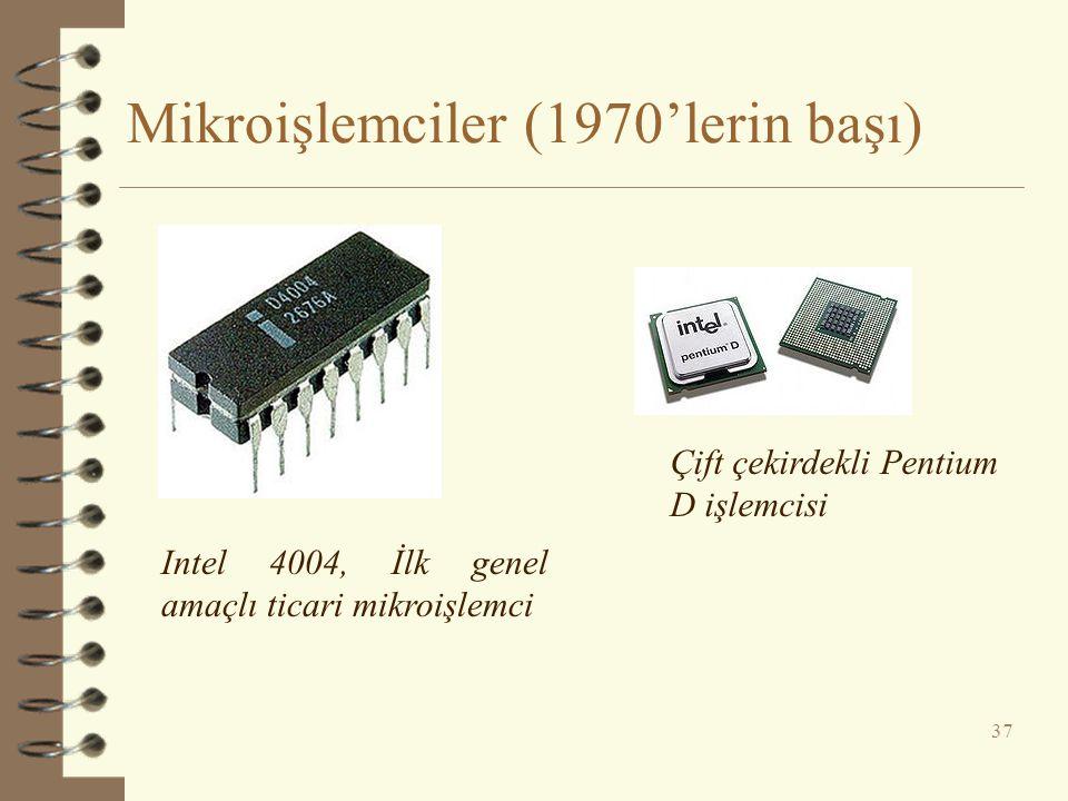 Mikroişlemciler (1970'lerin başı)