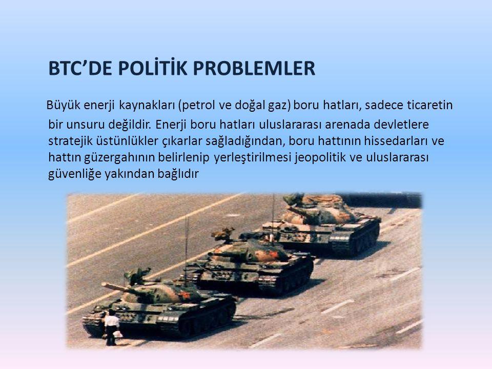 BTC'DE POLİTİK PROBLEMLER