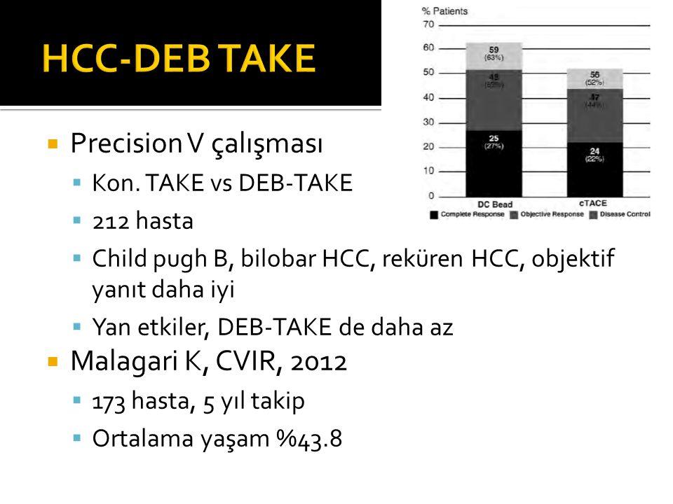 HCC-DEB TAKE Precision V çalışması Malagari K, CVIR, 2012