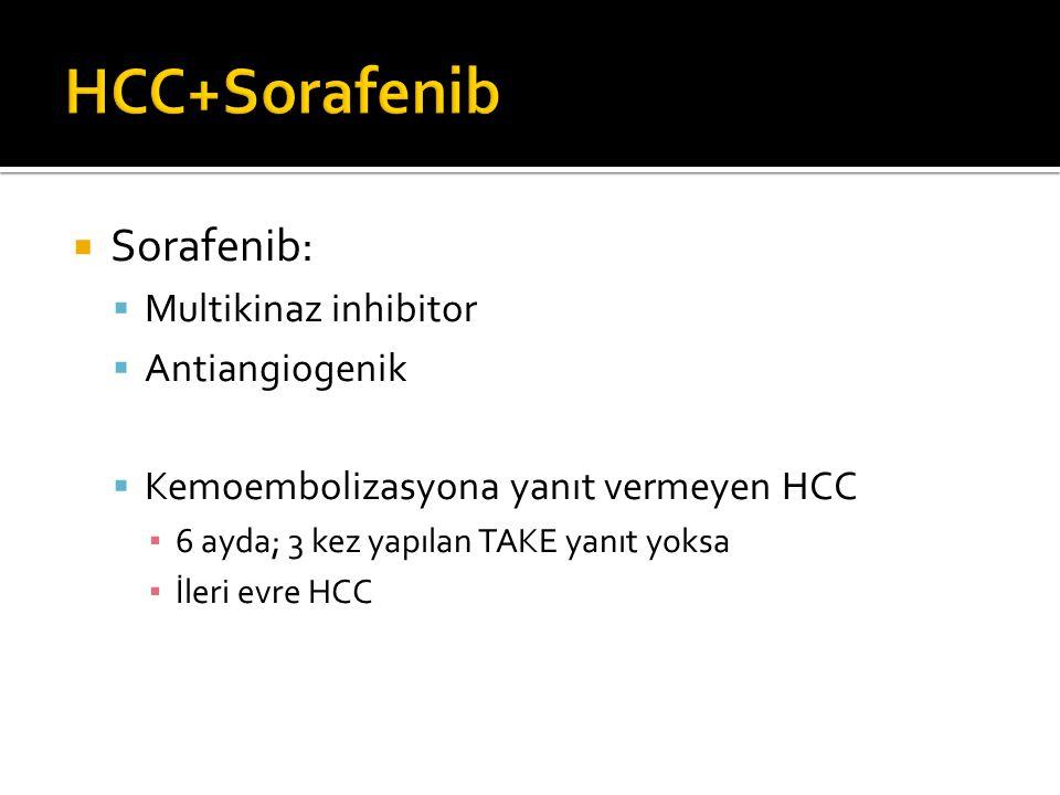 HCC+Sorafenib Sorafenib: Multikinaz inhibitor Antiangiogenik