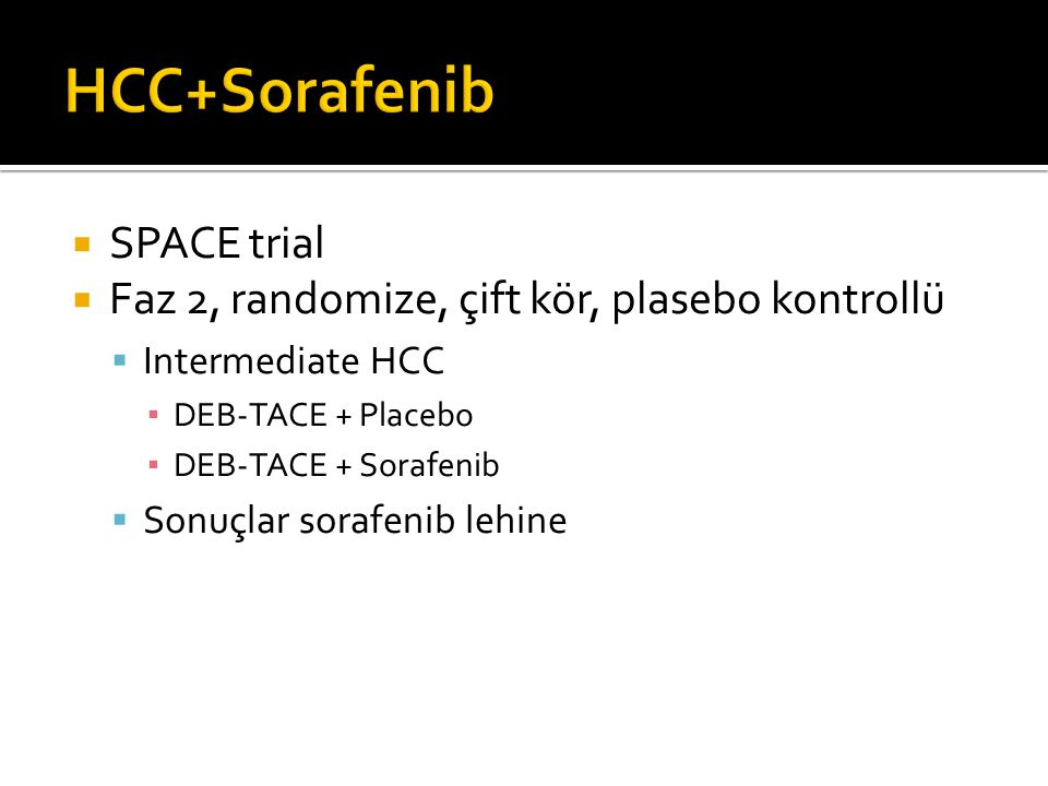 HCC+Sorafenib SPACE trial