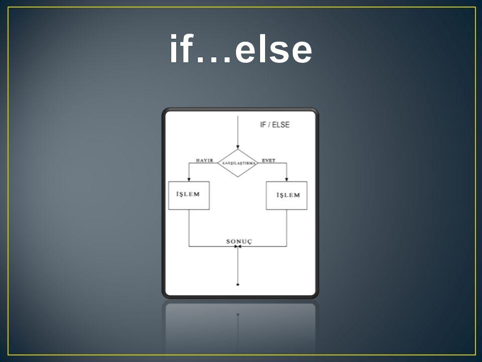 if…else