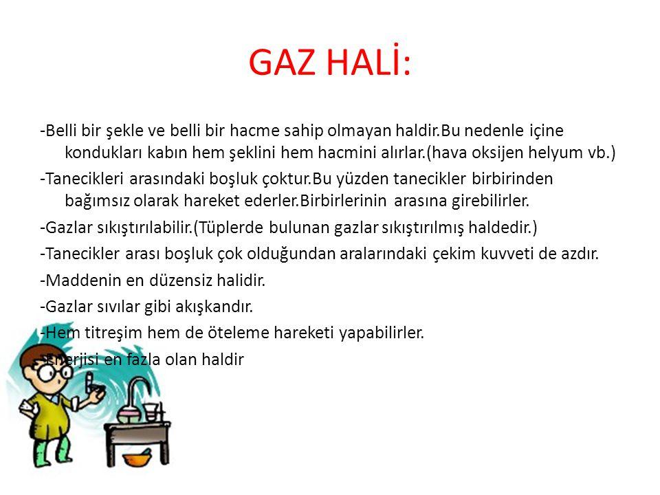 GAZ HALİ: