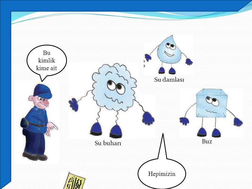 Bu kimlik kime ait Su damlası Buz Su buharı Hepimizin
