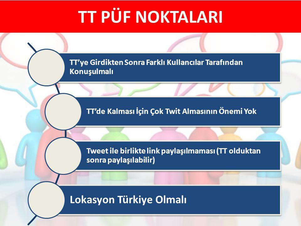 TT PÜF NOKTALARI Lokasyon Türkiye Olmalı