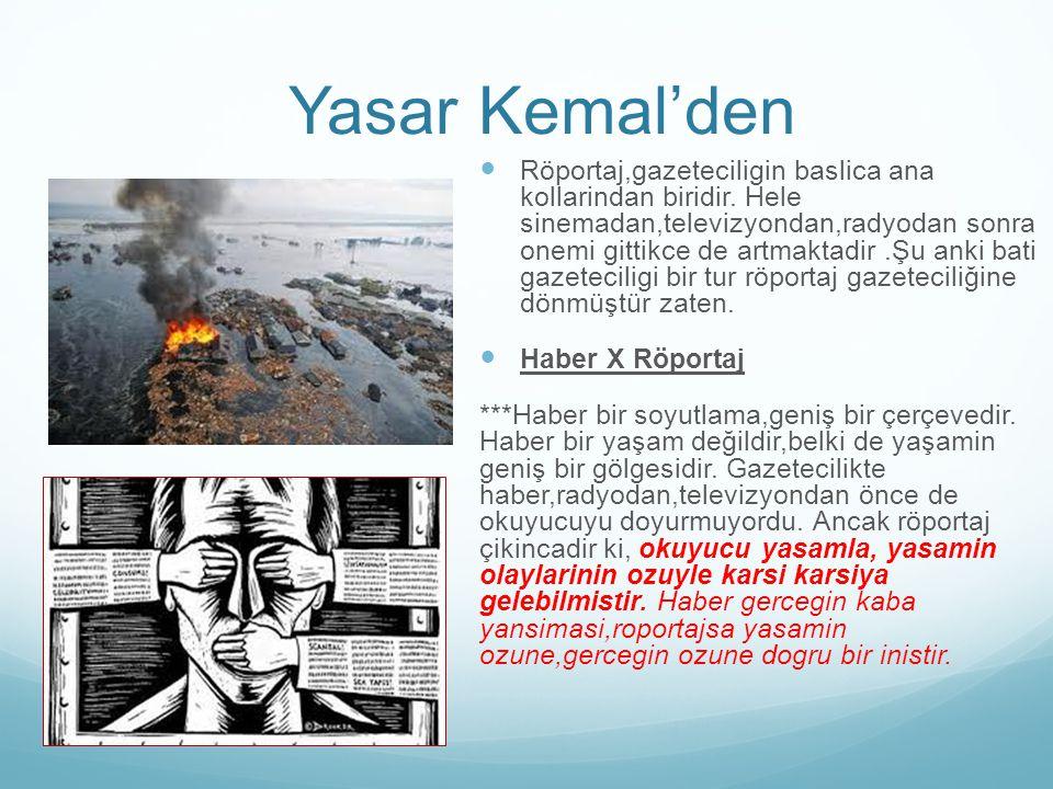Yasar Kemal'den