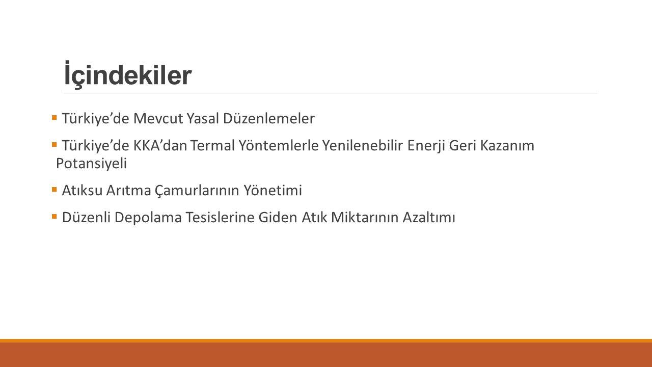 İçindekiler Türkiye'de Mevcut Yasal Düzenlemeler