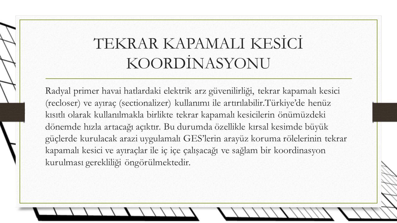 TEKRAR KAPAMALI KESİCİ KOORDİNASYONU