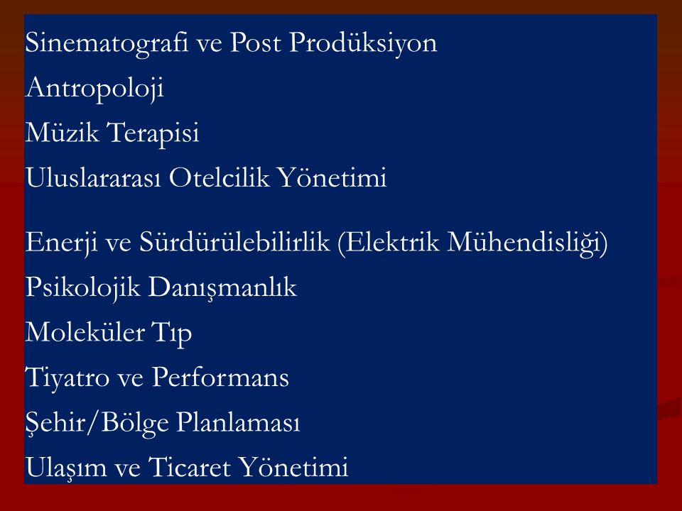Sinematografi ve Post Prodüksiyon