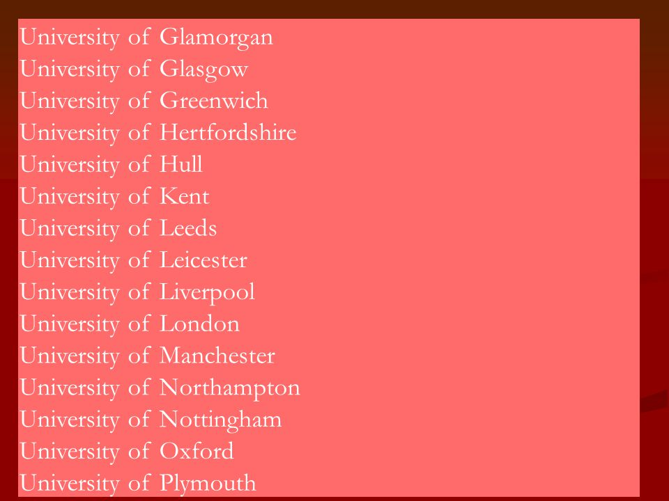 University of Glamorgan