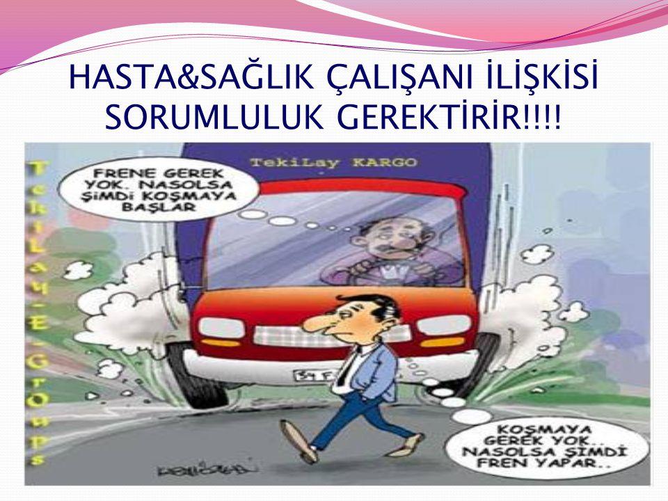 HASTA&SAĞLIK ÇALIŞANI İLİŞKİSİ SORUMLULUK GEREKTİRİR!!!!