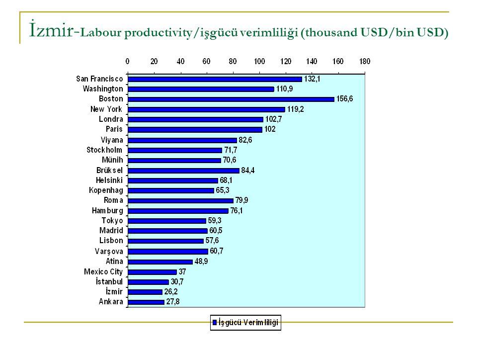 İzmir-Labour productivity/işgücü verimliliği (thousand USD/bin USD)