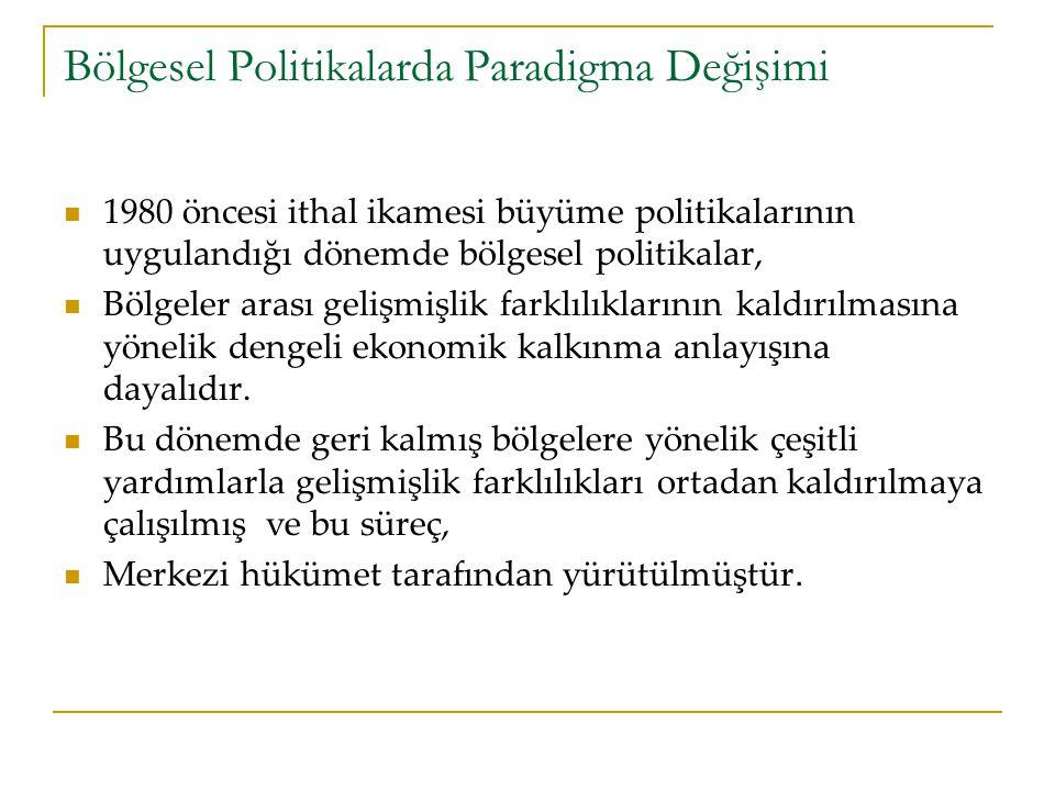 Bölgesel Politikalarda Paradigma Değişimi