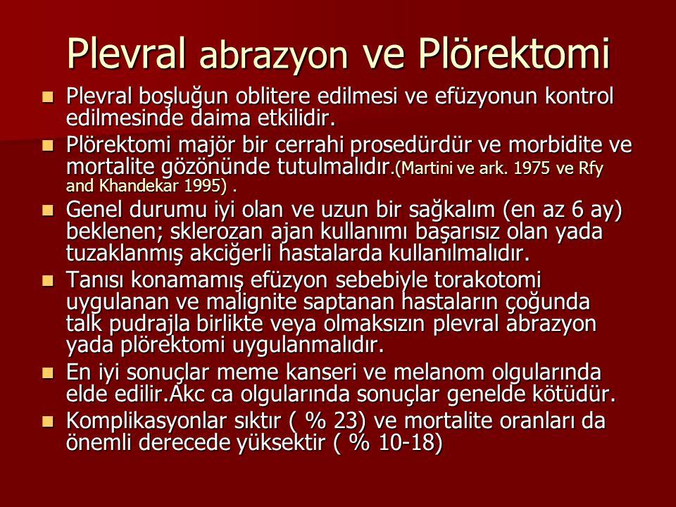 Plevral abrazyon ve Plörektomi