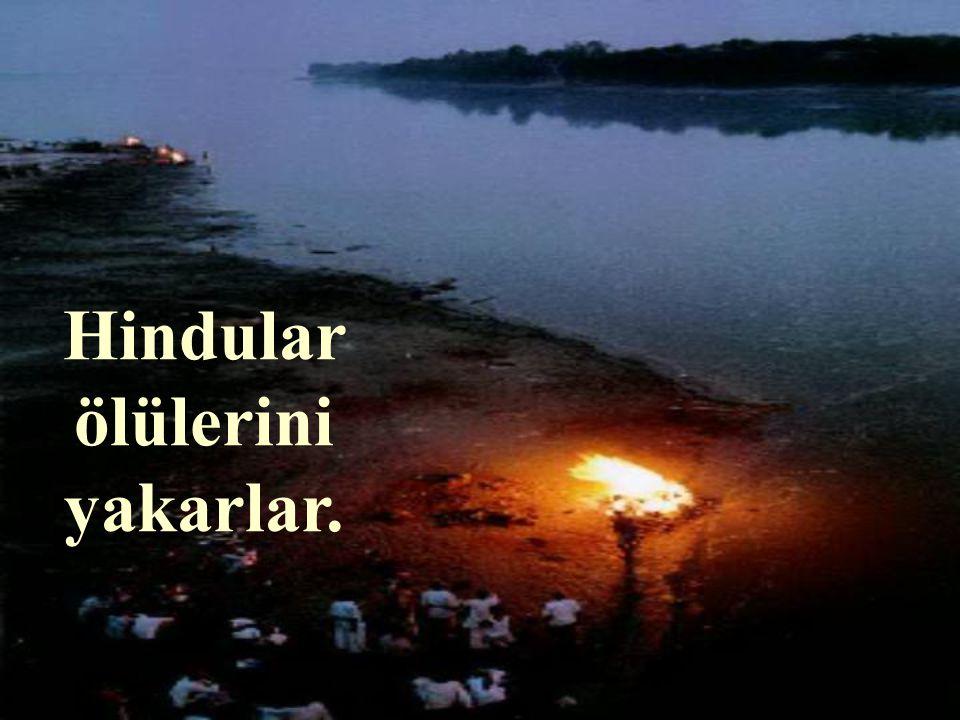 Hindular ölülerini yakarlar.