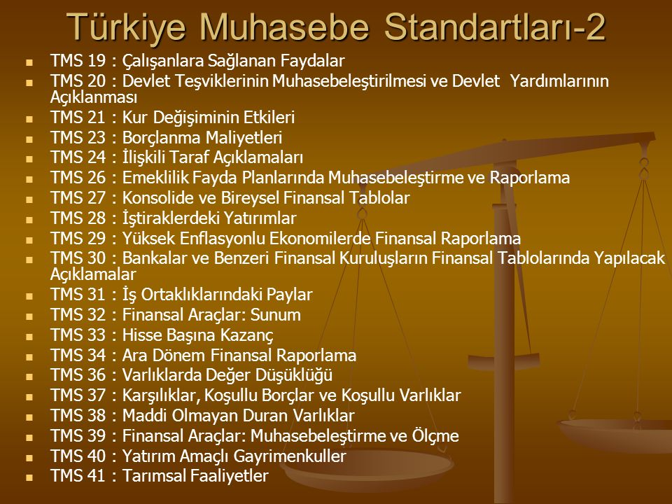 Türkiye Muhasebe Standartları-2