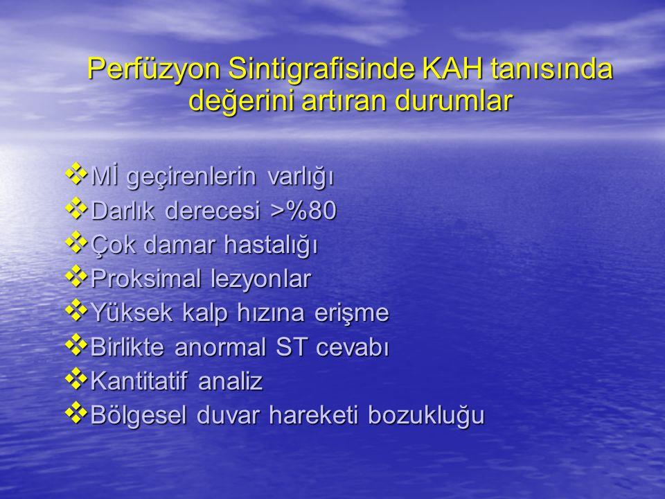 Perfüzyon Sintigrafisinde KAH tanısında değerini artıran durumlar