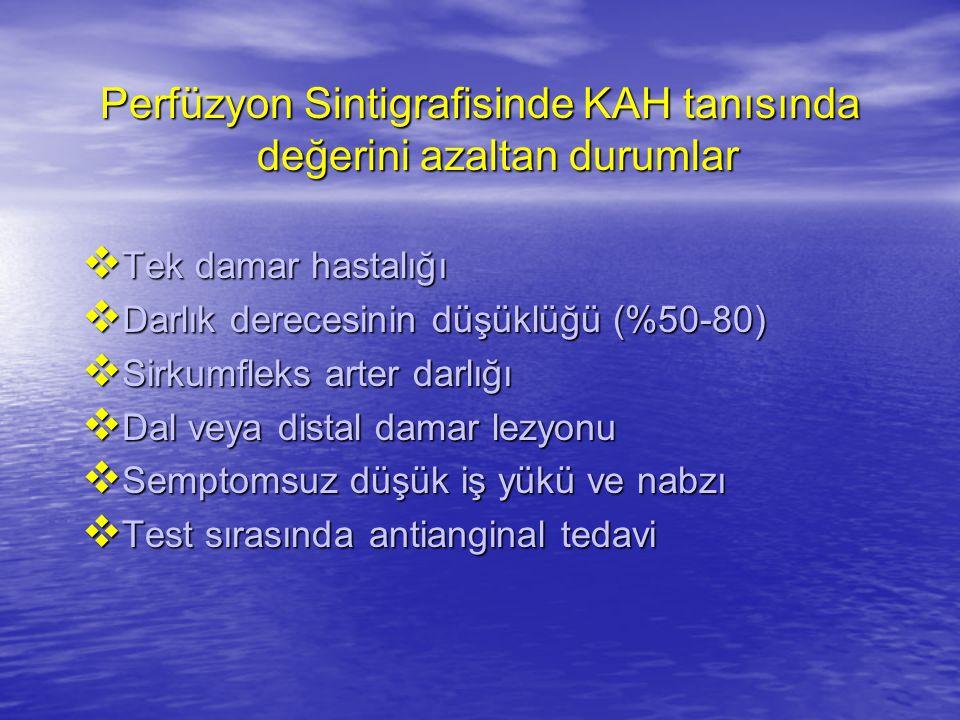 Perfüzyon Sintigrafisinde KAH tanısında değerini azaltan durumlar