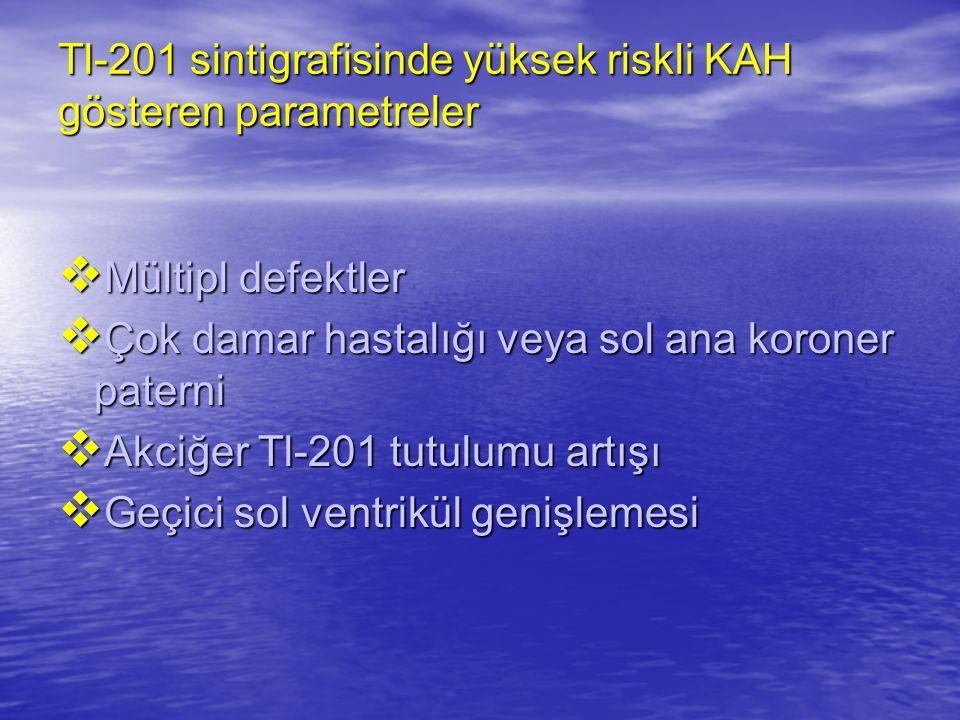 Tl-201 sintigrafisinde yüksek riskli KAH gösteren parametreler