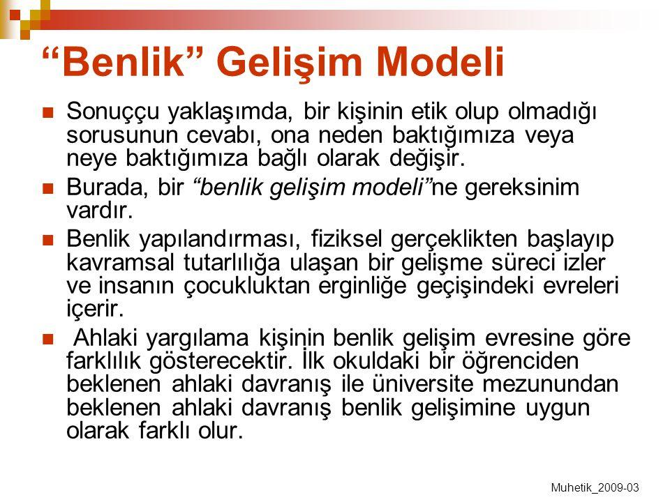 Benlik Gelişim Modeli